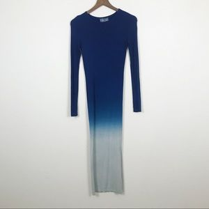 YFB Maxi Dress Long Sleeve Gradient Blue